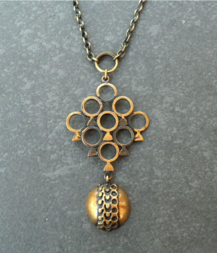 Pentti Sarpaneva, vintage modernist bronze pendant, 1970's. #Finland | LifeUpNorth / Etsy.com