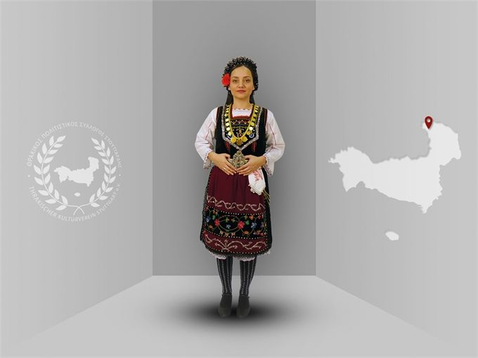 Thrace, Pentalofos (Evros), traditional costume  -Thracian culture club Stuttgart-  www.thraki.de
