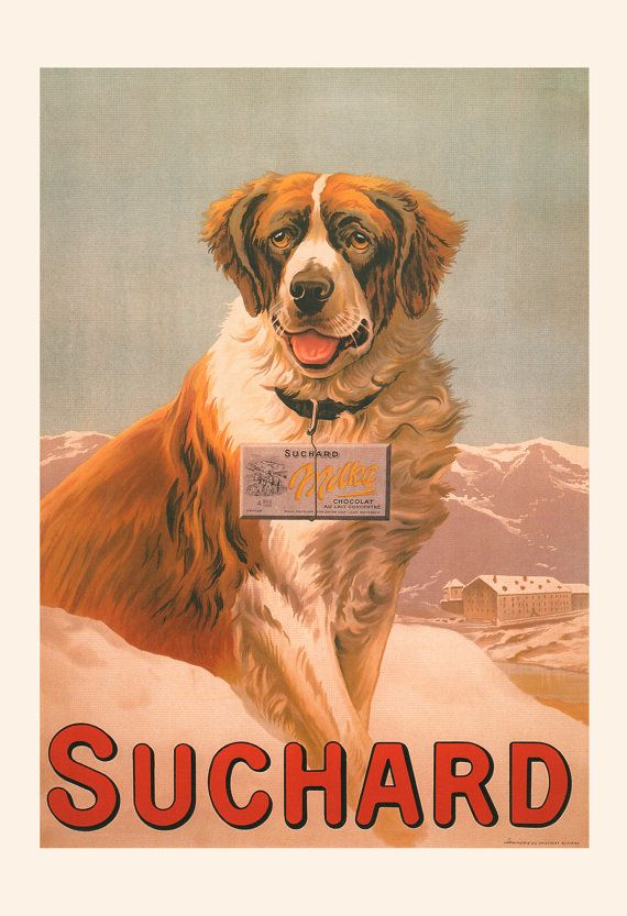 VINTAGE CHOCOLATE POSTER Suchard Chocolate by EncorePrintSociety