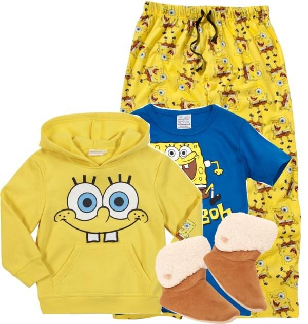 """spongebob pajamas!!!"" by iammissweezybieber143 ❤ liked on Polyvore"