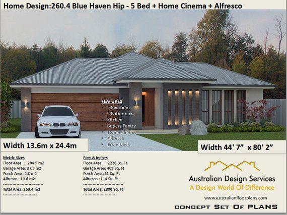 5 Bed House Plans Australia 260 4 M2 Or 2800 Sq Feet 5 Bedroom Design 5 Bed Floor Plans 5 Bed Blueprints 5 Bedroom Home Design House Plans Australia House Plans For Sale House Plans