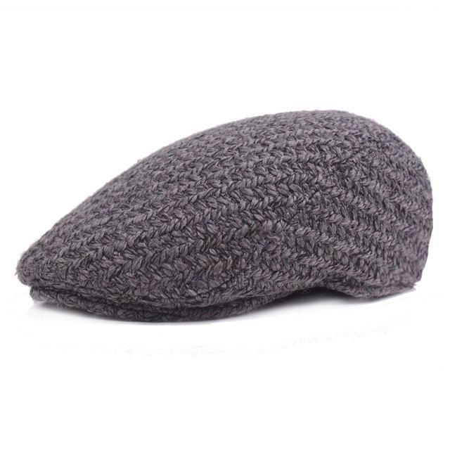 levacy Black Grey Herringbone Newsboy Baker Boy Tweed Flat Cap Mens Gatsby Hat