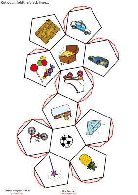dodecaedro recortable para trabajar cuentos OBJETOS