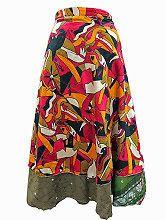 Easy Breezy Silk Sari Wrap Skirt Multi Color
