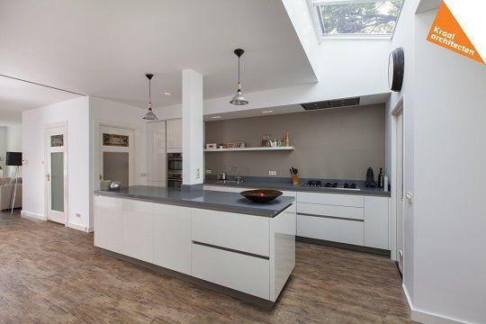 Aanbouw woning Dichterswijk - Zeist - Kraal architecten - interieur verbouwing met lichtstraat