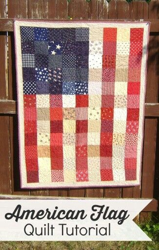 This is beautiful! American flag quilt.