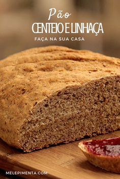 Pão de Centeio e Linhaça Pão caseiro, delicioso e saudável. Prepare essa receita de pão de centeio e linhaça em casa
