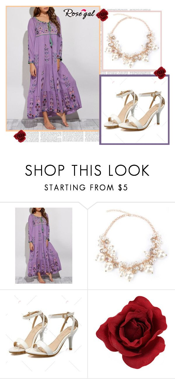 """Floral dress"" by merimarahmanovic ❤ liked on Polyvore"