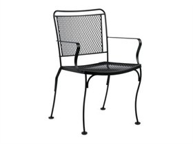 Woodard Constantine Wrought Iron Dining Set CONDS: LuxePatio.com, 23.2W x 23D x 33.2H inches - $111.80