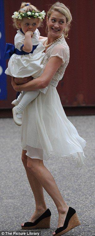 Lady Rose van Cutsem with her daughter Grace van Cutsem