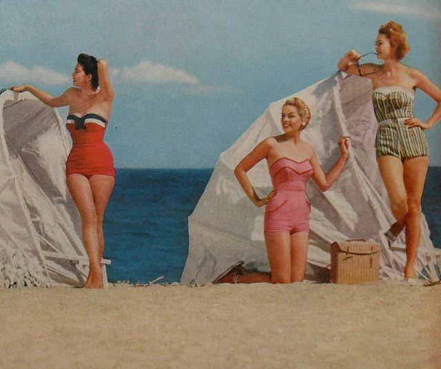 1950s women beach swimsuits fashion photo vintage 2 by Christian Montone, via FlickrVintage Swimsuits, Beach Swimsuits, 1950S Women, Vintage Summer, Beach Fashion, 1950 S, Beach Girls, 1950S Swimwear, 1950S Fashion