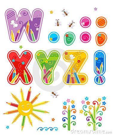 Letras determinadas W - Z del ABC más