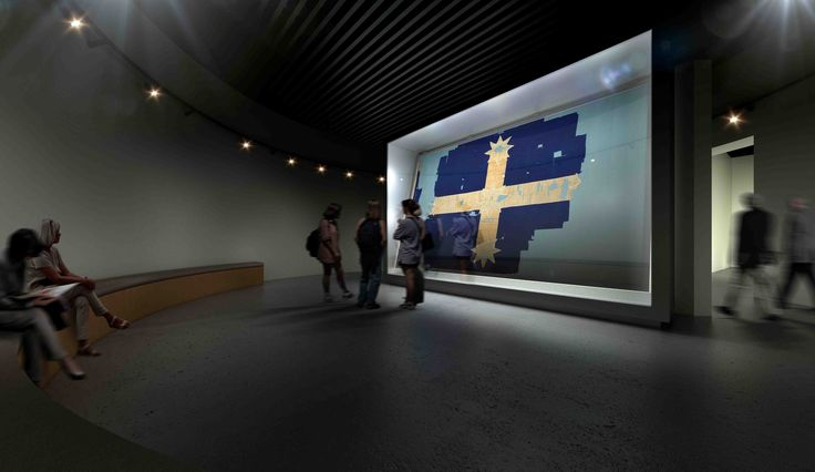 The Flag of the Southern Cross (Eureka Flag) is on display at M.A.D.E! Generously on loan the Art Gallery of Ballarat, come and see a slice of Australian history today!