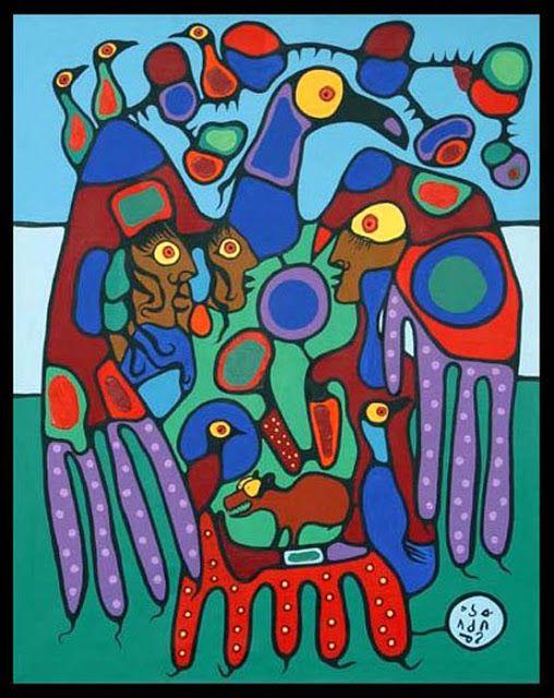 >>> Norval Morrisseau Facts, Articles & Art: UNDER THE SHAMAN'S DOME - Norval Morrisseau - 1980
