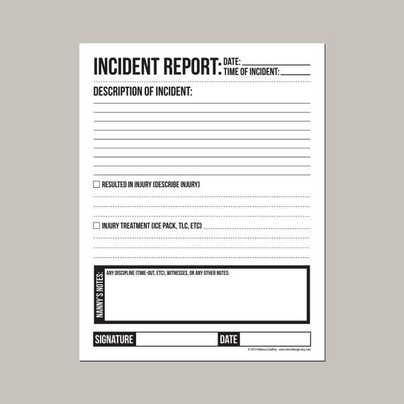 The 25+ best Incident report ideas on Pinterest Incident report - incident report format
