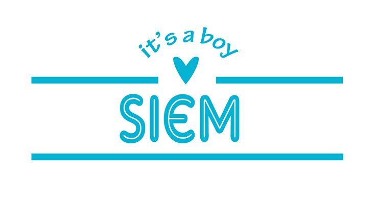 Geboortesticker type Siem