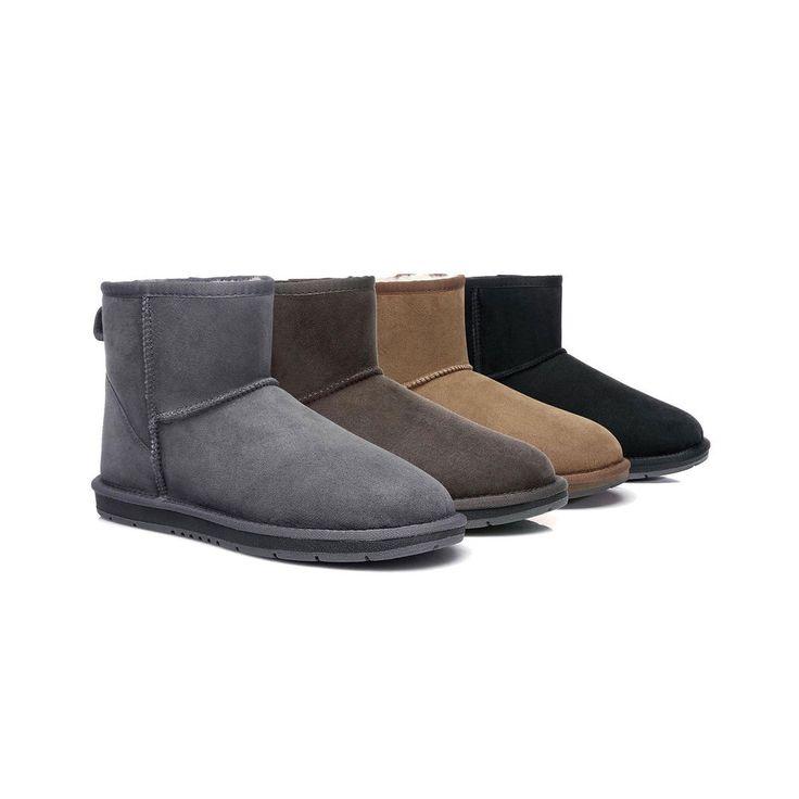 #uggboots Ugg Mini Classic Sheepskin Ankle Boots Mens Ladies Black Brown Sizes 35-44 EU - $73.00 (AU)