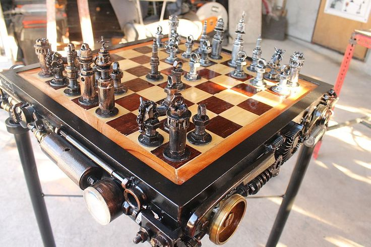 Battle Of The Nuts Steampunk Edition Chess Set Make Your