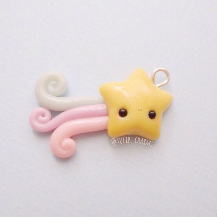 #kawaii #charms #polymer #clay #shooting #star