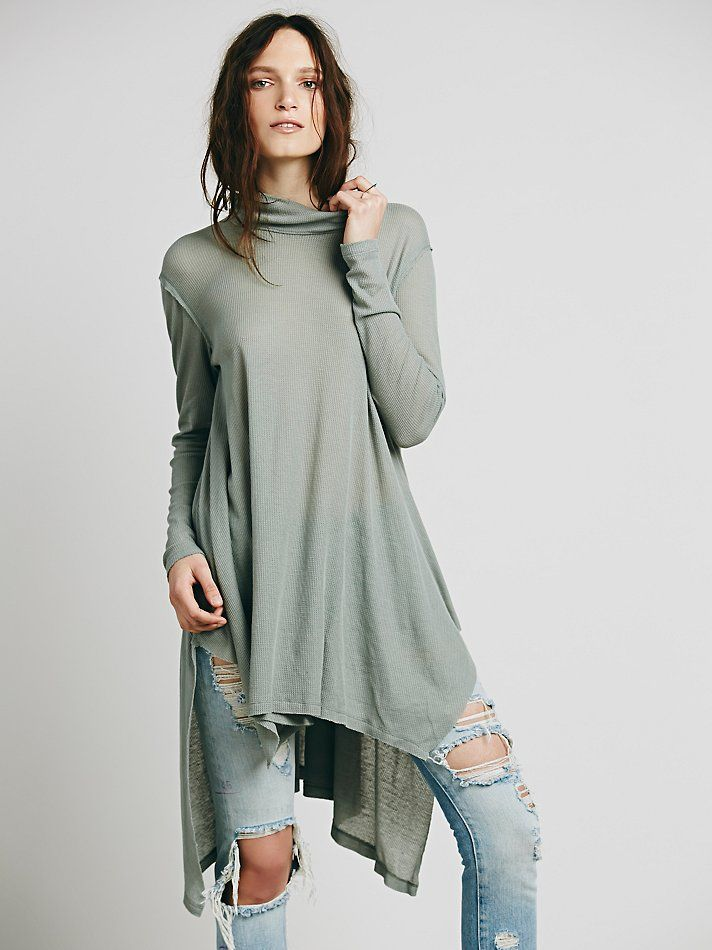 Free People We The Free Wonder Woman Mock Neck, $78.00 dusty jade only
