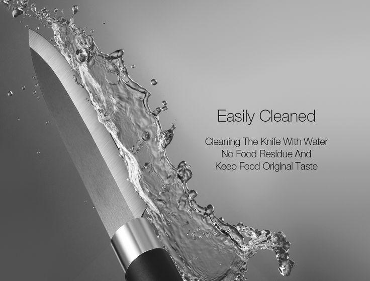 KCASA KC-CF007 Black Ceramic Knife Sets Kitchen Cutlery Rust Proof Chef Knife Slicer Peeler Cutter