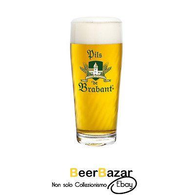 Bicchiere Birra Brabant pils 50 Cl pinta vetro rastal Belgio bar pub collezione