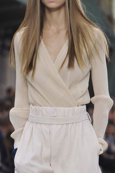 Chloé Spring 2014 Our #ToplessTee women's #undershirt would be invisible perfection (and protection) under this.