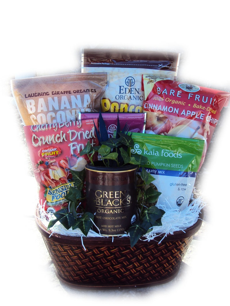 11 best gift ideas for athletes images on pinterest athletes certified organic healthy birthday basket negle Image collections
