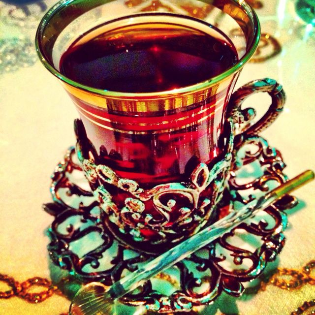 Turkish tea. So pretty.