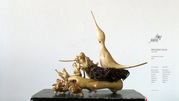 The Eurasian Woodcock on his nest by JulessUniqueArtworks on Etsy