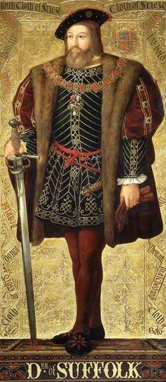 Charles Brandon, Duke of Suffolk By Richard Burchett  Oil on panel, 1850's