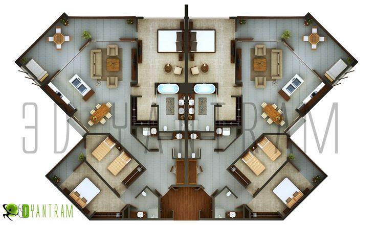 3d Hotel Floor Plan Design Modeling Studio Amsterdam