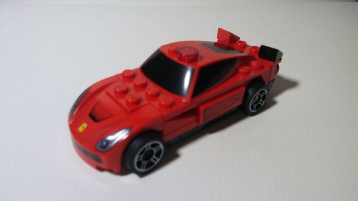 Ferrari F12 Berlinetta car model from Lego bricks.