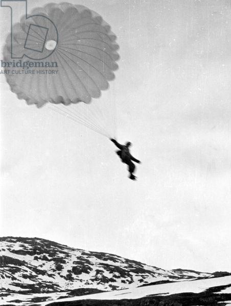 Norwegian Campaign: Battle of Narvik, 1940 (b/w photo)