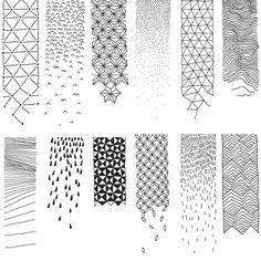 Atelier Beau-Voir / Motifs #pattern #sketch #monochrom