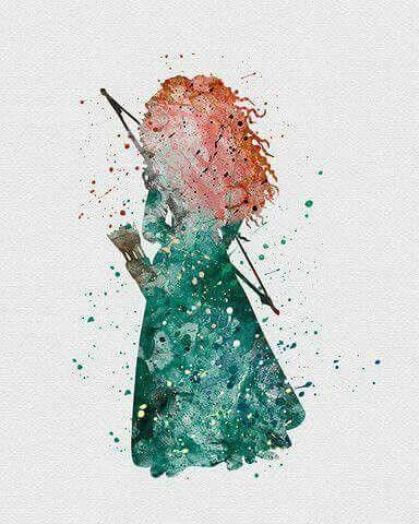 Merida... I like her so much. She's one of my favorite Disney characters!