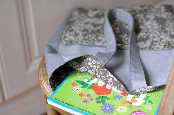 Cabas couture de Fikou Mikou. Tissu fleuri Frou-Frou