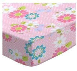 Daisy Dot Round Crib Sheet