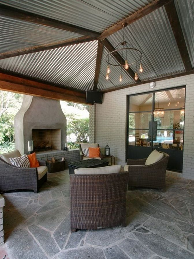 87 Inspiring Patio Cover Ideas 20 Topzdesign Com In 2020 Patio House With Porch Patio Roof
