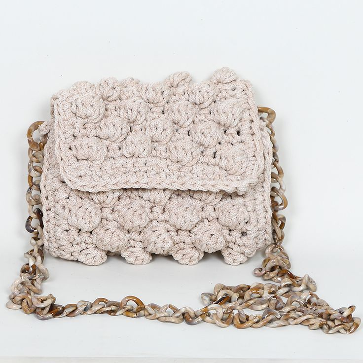 Handmade crochet mini clutch