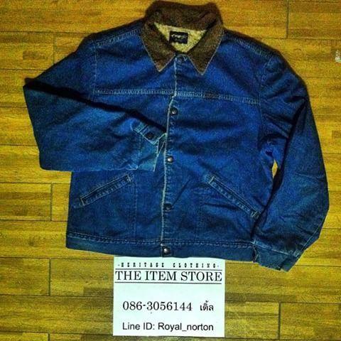 ขาย Vtg. Wrangler Fleece lined denim jacket สภาพเยี่ยม ไม่มีตำหนิ ปกคอ conduroy น้ำตาล งานมันๆ made in USA ด้านในเป็น Fleece lined ราคา 1,250 บาท EMS 50 บาท #wrangler #vintage #vintagejacket #vintagethailand #vintageworkwear #fleecelined #denim #jacket #madeinUSA #siamgypsy #ชุมทางสยามยิปซี #ขาย #ของดีราคาถูก #สวยจริง #มือสอง #หายาก #biker #BKK #Thailand #theitemstore #western #workwear #heritageclothing