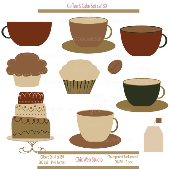 clipart coffee and cake - photo #23