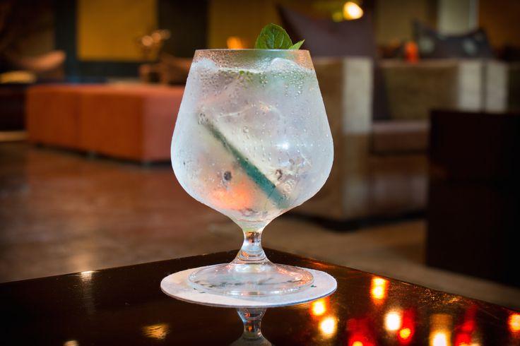 Cumcumber Pepper Gin Tonic Cocktail in #SenLín Restaurant at Grand Velas Riviera Maya. #GVRivieraMaya #VelasResorts #GrandVelas