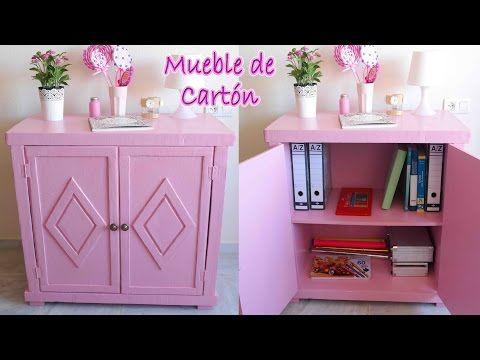 Tutorial mueble de cartón vintage - Mery - YouTube