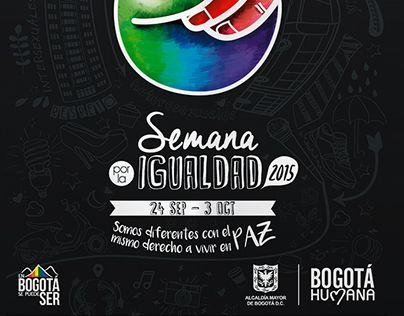 """Check out new work on my @Behance portfolio: """"Equality Week 2015 Bogota"""" http://on.be.net/1UAXLyv"""