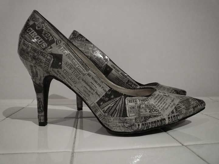 decoupage shoes