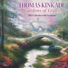 Thomas Kinkade Gardens of Grace with Scripture: 2012 Wall Calendar $13.30