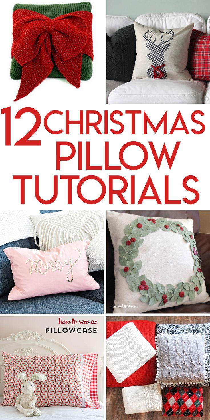 12 Christmas pillow tutorials 3666 best DIY