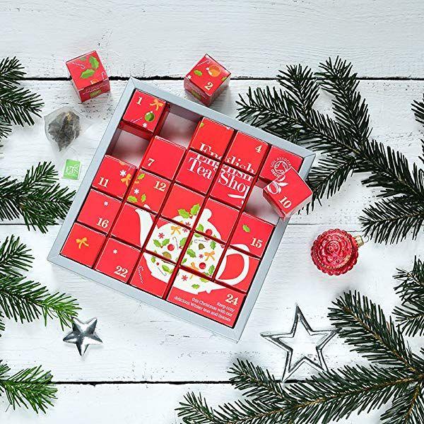Weihnachtsgeschenke Lebensmittel.English Tea Shop Tee Adventskalender Pink Christmas 24 Einzelne