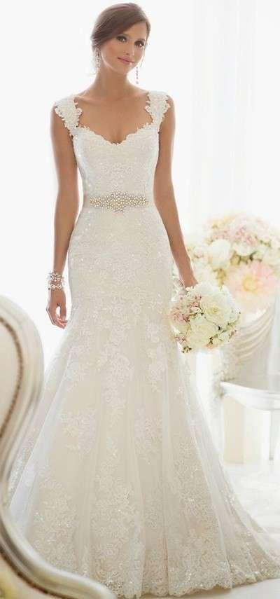 Vestidos de novia: Fotos de las principales siluetas - Modelo de traje de novio drapeado
